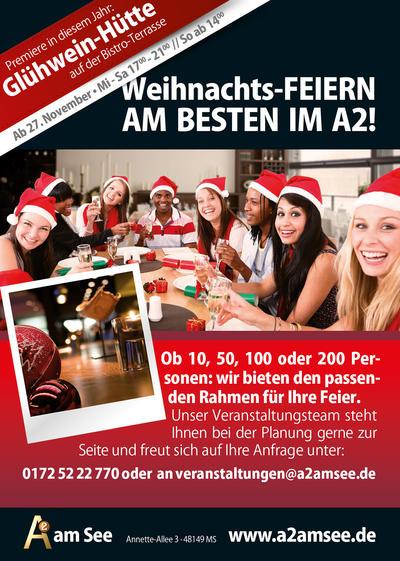 Feiern Sie ihre Weihnachtsfeier im A2!